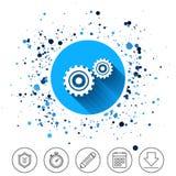 Cog settings sign icon. Cogwheel gear symbol. Stock Photography