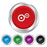Cog settings sign icon. Cogwheel gear symbol. Stock Photos