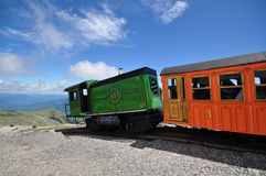 Cog train on the top of Mount Washington Royalty Free Stock Image