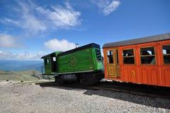 Cog train on the top of Mount Washington Royalty Free Stock Image