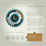 Cog wheel circle flat diagram for infographic. Royalty Free Stock Photo