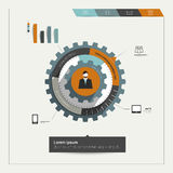 Cog wheel diagram for business template. Royalty Free Stock Photos