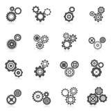Cog Wheel Icon. Cog wheel gear mechanic and engineering black icon set isolated vector illustration Royalty Free Stock Image