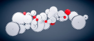 Cog wheel ins big gear machine Royalty Free Stock Images
