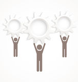 Cog wheel people vector Royalty Free Stock Images