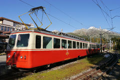 Cog-wheel railway train Royalty Free Stock Photos