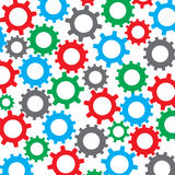 Cog wheel seamless color pattern Royalty Free Stock Photos