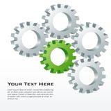 Cog wheels. Illustration of cog wheels on white background Stock Photography