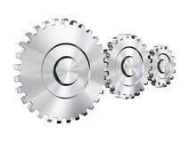 Cog wheels. 3d rendering of 3 cog wheels Stock Image