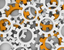 Cog wheels background Royalty Free Stock Images