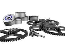 Cog-wheels and ball bearings royalty free stock photography