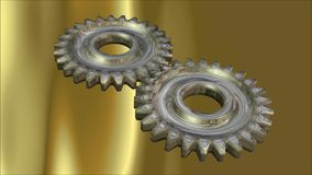 Cog Wheels. Digital Animation of Cog Wheels royalty free illustration