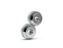 Cog wheels - gears on white background Stock Photos