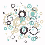 Cog Wheels. Illustration of an Abstract Cog Wheels background Royalty Free Stock Images
