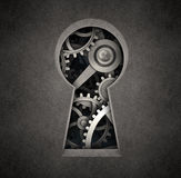 Cog wheels keyhole Royalty Free Stock Photos