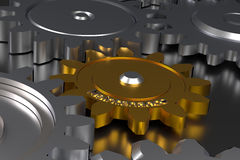 Cog wheels with maintenance. Cog wheels with the word Maintenance, 3d rendering Royalty Free Stock Photo