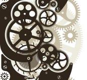 Cog wheels seamless. Cog wheels work. Vector pattern seamless by vertical Royalty Free Stock Photo