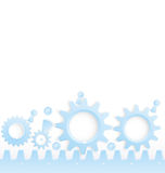 Cog wheels seamless border vector Stock Photo