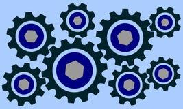 Cog wheels set Stock Image
