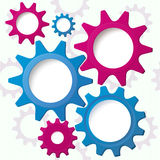 Cog wheels textured background vector Royalty Free Stock Photo