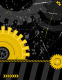 Cog works - portrait. Illustration - industrial background with plenty of copy space for your text Stock Photo