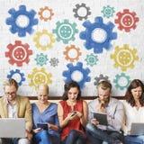 Cog współpracy technologii cyfrowej pojęcie Fotografia Stock