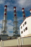 Cogeneration plant #2. New cogeneration plant in Moscow, Russia Royalty Free Stock Photos