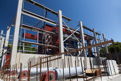 Cogeneration plant construction process Royalty Free Stock Images