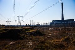 Cogeneration plant in Kyiv, Ukraine Stock Photos