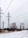 Cogeneration plant near Kyiv (Ukraine) in winter Stock Images