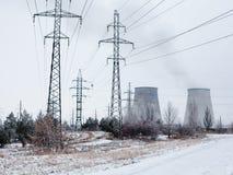 Cogeneration plant near Kyiv (Ukraine) in winter Stock Photo