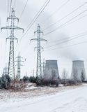 Cogeneration plant near Kyiv (Ukraine) in winter Stock Image