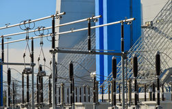 Cogeneration power plant. Newly constructed cogeneration power plant Stock Image