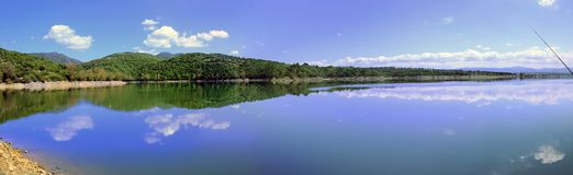 Coghinas jezioro Zdjęcie Stock