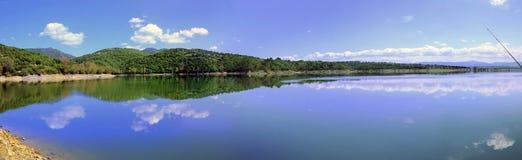Coghinas lake arkivfoto
