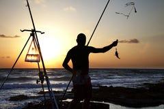Cogida de los pescados Imagen de archivo libre de regalías
