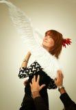 Cogida del ángel Fotografía de archivo