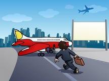 Cogida del avión Fotografía de archivo libre de regalías