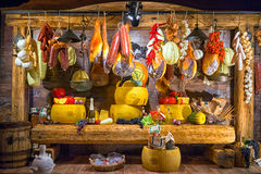 Cogimar. Kotor, Montenegro - September 04, 2017: storefront of Cogimar shop, a famous fish store in Montenegro. The showcase is decorated with an abundance of Royalty Free Stock Image