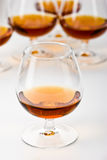 Cognac. Strong drink series: glassy bocal with cognac stock photography