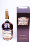 Cognac. Bottle and box with cognac Royalty Free Stock Images
