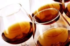 Cognac. Many brandy's galsses Stock Photo