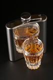 Cognac And Flask Stock Photography