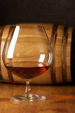 Cognac and barrel Royalty Free Stock Photography