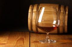 Cognac and barrel Stock Photo