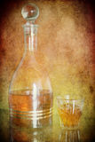 Cognac in a bottle Royalty Free Stock Photography