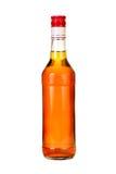 Cognac  bottle. Classical cognac  bottle. It is filled, corked Stock Photos