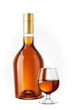 Cognac bottle Stock Images