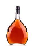 Cognac bottle on white background. Stock Image