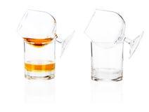 Cognac brandy glass on white Stock Photo